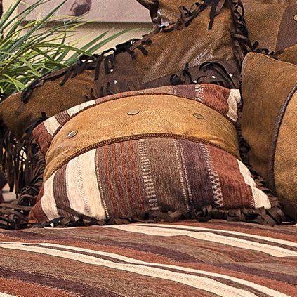 Western Hills Striped Rustic Pillow - Southwestern Bedding