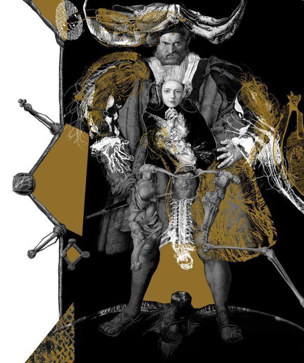 Интервью с Владиславом Ерко о новой книге – пьесе Шекспира «Ромео и Джульетта»            — Это папа Джульетты. Он у меня получился слегка в гольбейновском ключе и похож на Генриха VIII. Речь идет о продолжении рода — Капулетти требует от дочери повиновения. И, поскольку в традиции все было прямолинейно и грубо, я и изобразил его таким кабаном, «вместилищем ценных жидкостей фамилии».