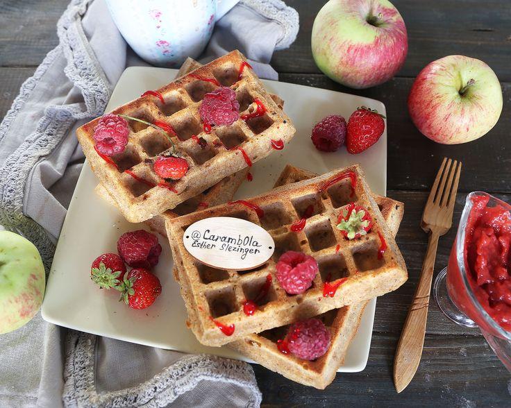 Полезные яблочные вафли | Рецепты правильного питания - Эстер Слезингер