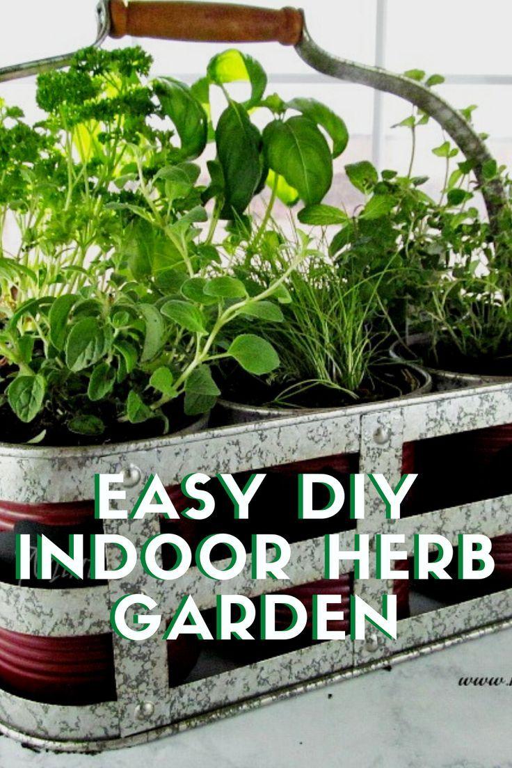 Easy And Inexpensive Diy Indoor Herb Garden Kit In 2020 Herb