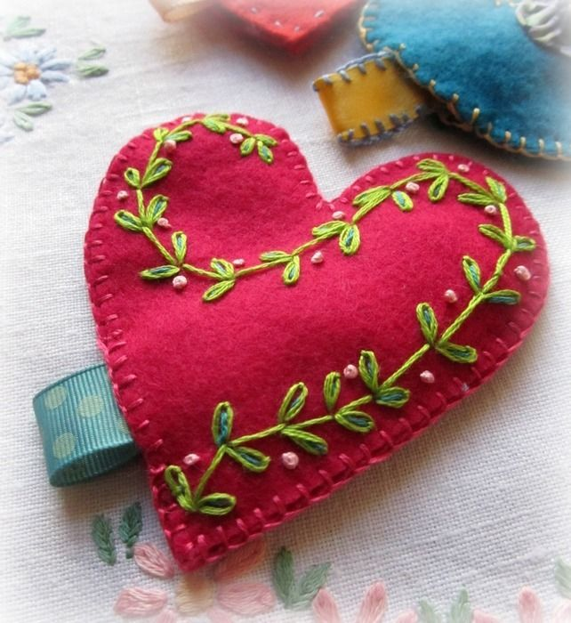 felt heart with secret message