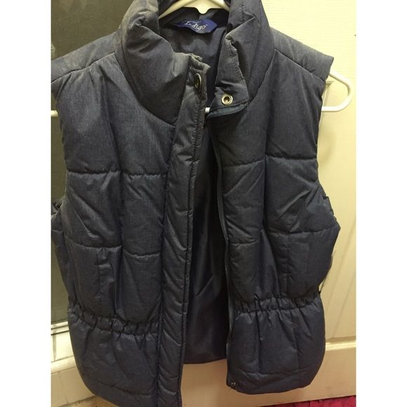 Navy Blue Vest Puffy navy blue best! Still has tags. Jackets & Coats Vests