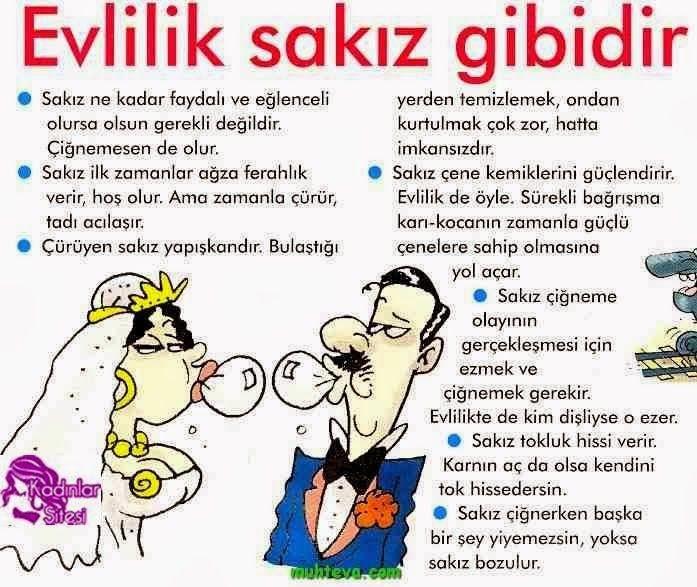 Evlilik Sakız Gibidir! - Karikatür | Komik Karikatürler 2013 | Komik Resimler