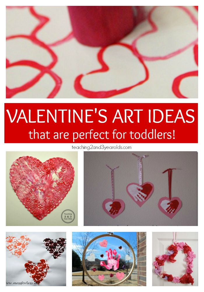 Simple Valentine's crafts for toddlers that are hands-on and fun!