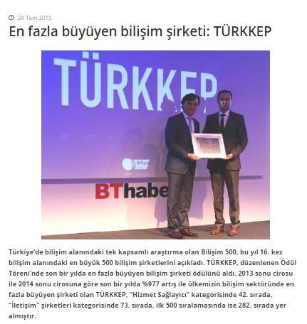 En fazla büyüyen bilişim şirketi: TÜRKKEP