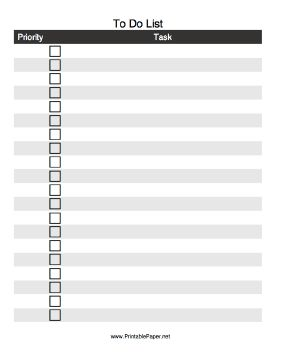 This printable to do list lets you prioritize tasks and for Prioritizing tasks template