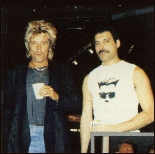 Freddie Mercury & Rod Stewart