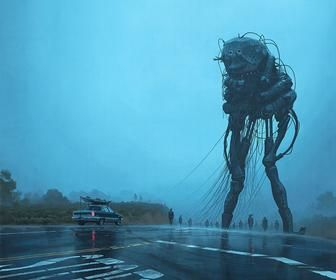 Simon Stålenhag's New Paintings and Books Take us Further into an Alien Invasion That has Gone Wrong