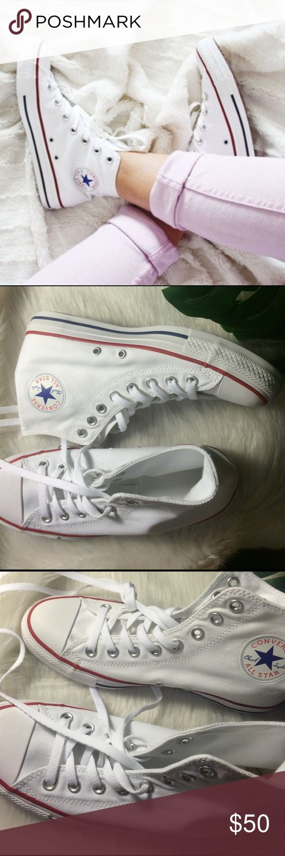 📍1 HOUR SALE📍CONVERSE CHUCK TAYLORS WHITE SHOES No box. Converse Shoes Sneakers