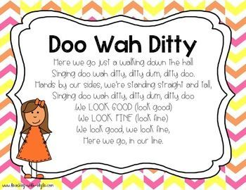 FREE Hallway Songs~ This is fantastic! Sing it while lining up in the classroom, then sing it in your head while walking down the hall!: