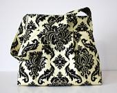 black and white: Beige Damasks, Hobo Handbags, Black And White, People