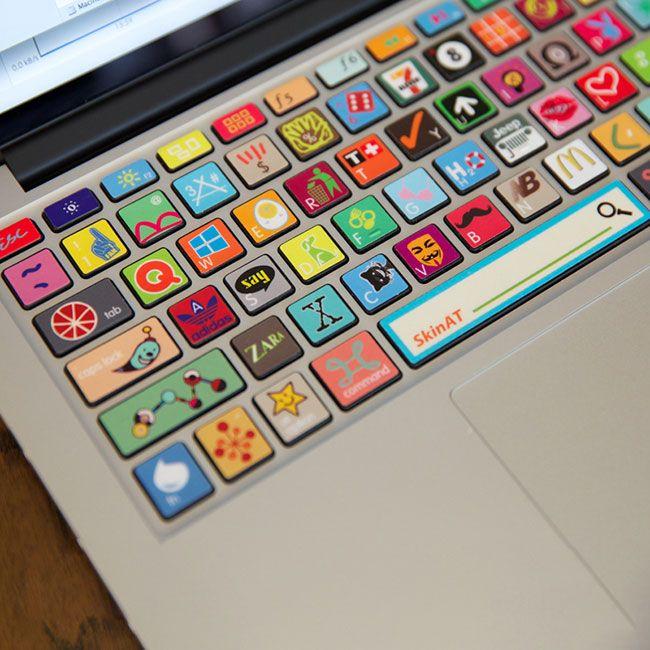 Симпатичные наклейки для клавиатуры ноутбука #НАКЛЕЙКИ #КЛАВИАТУРА #MACBOOK