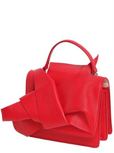 N°21 - KNOTTED LEATHER SHOULDER BAG - RED
