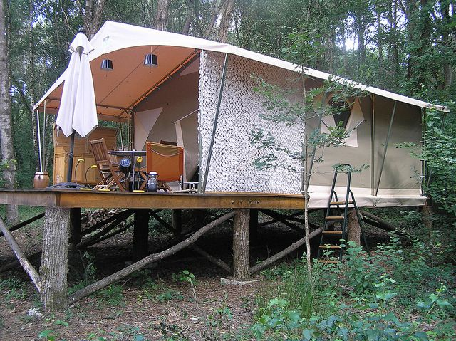 17 best images about glamping inspiration on pinterest for Canvas platform tents