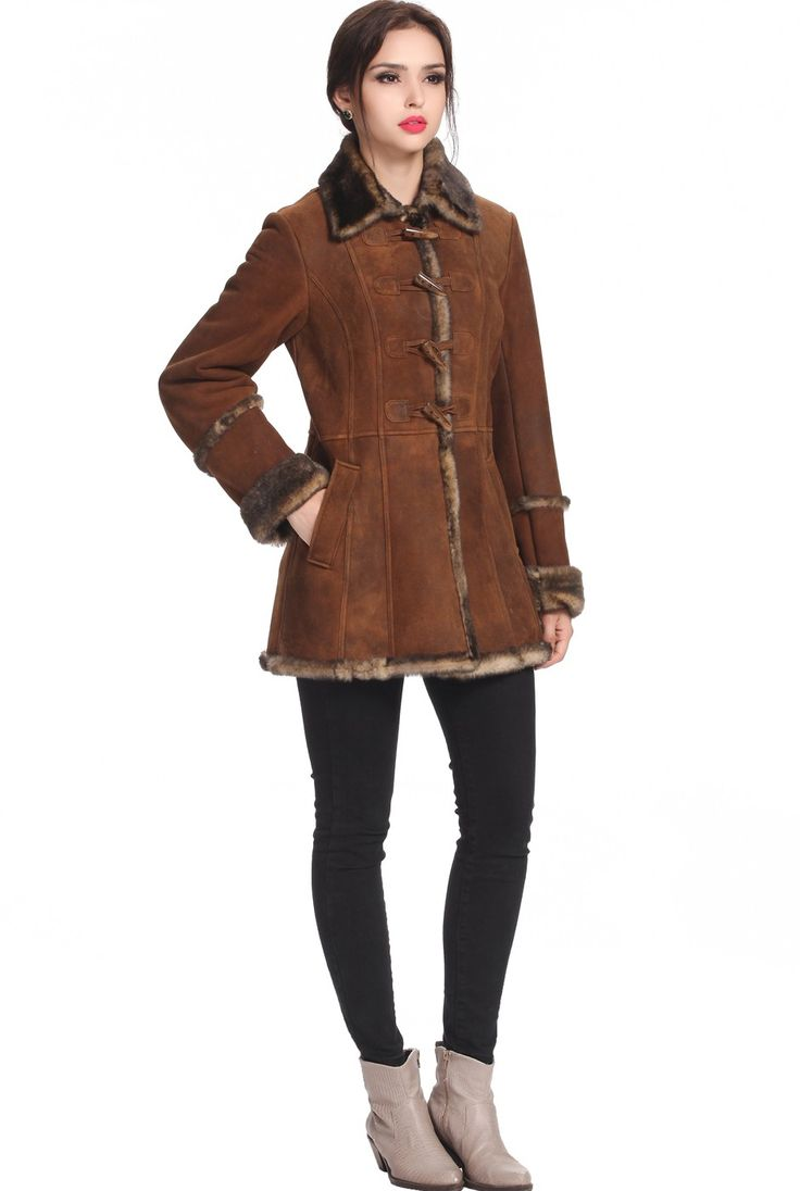 1000  images about Women&39s Shearling/Faux Shearling Coats on