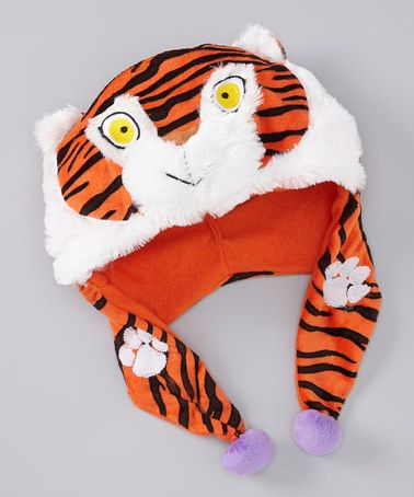 Take a look at this Clemson Mascot Plush Earflap Beanie by Turnovers, Inc. on #zulily today!