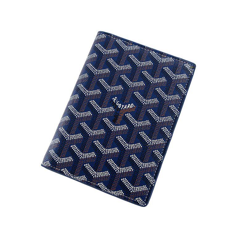 Blue Goyard - Goyard Leather Passport holder
