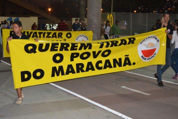 Torcedores protestam contra preço dos ingressos do Maracanã - Brasileirão - O Dia