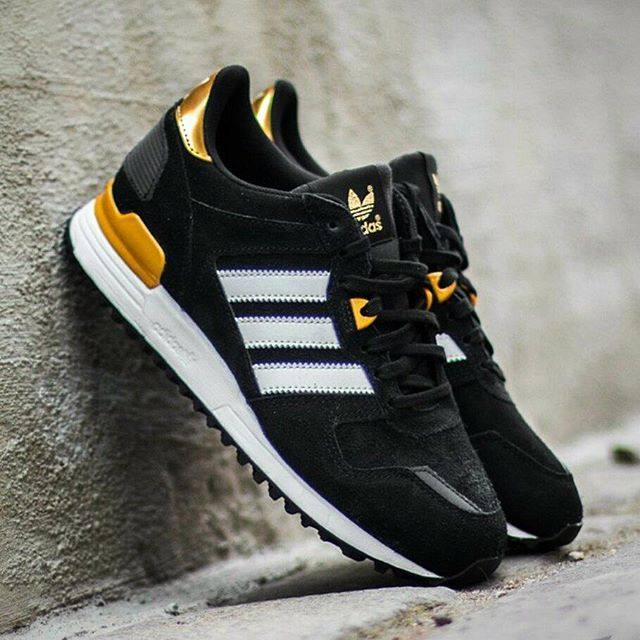 The #Adidas ZX 700 W Core Black/White/Gold!  #adidaszx #adidaszx700 #zx700 #adidasshoes #adidassneakers #sneakernews #sneakerhead #sneakeraddict #sneakerporn #gold #golden #fashion