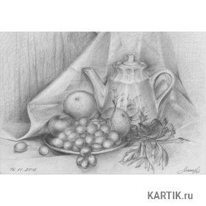 Натюрморт   Изобразительное искусство   Карандаш, ручка, фломастер. 36