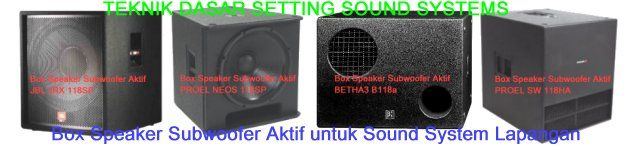 Box Speaker Subwoofer Aktif untuk Sound System Lapangan