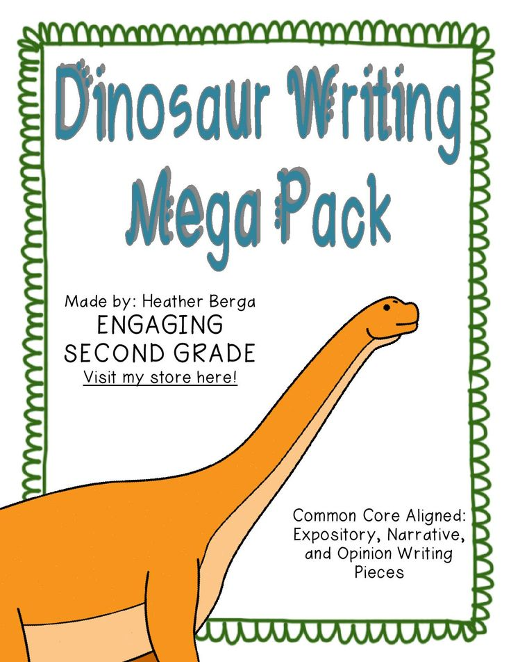 Dinosaur writing activities for 2nd grade