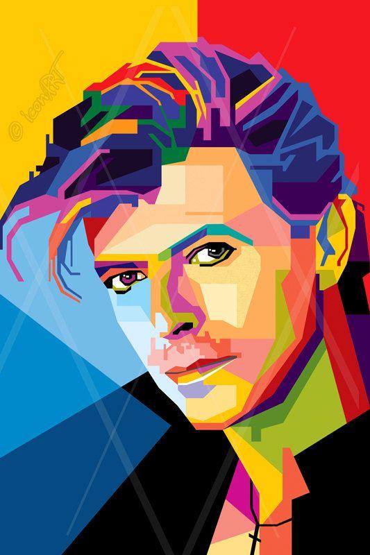 David Bowie pop art | Portraits, Visage, Portrait