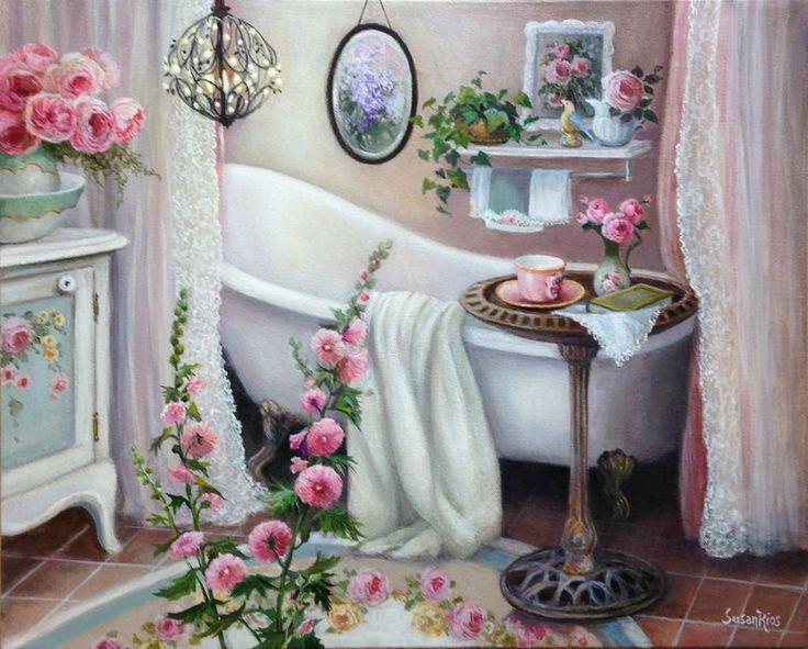 Spot S for Tea Susan Rios | Solitude Susan Rios Keepsake Tea Art | Roses And Teacups