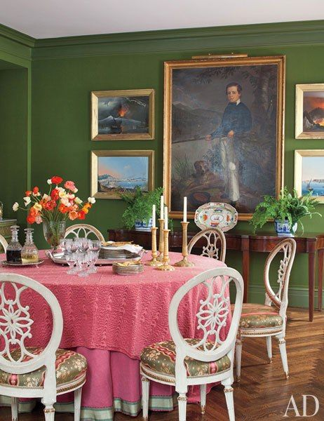 Brockschmidt U0026 Coleman: In The Dining Room, An Ancestral Portrait And  18th Century