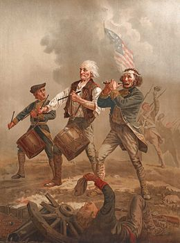 Yankee Doodle, this is one of several versions of a scene painted by A.M. Willard in the late nineteenth century