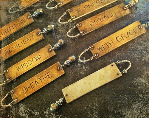 Must learn how to do this....would make great giftsMetals Letters Stamps, Crochet Bracelets, Bracelets Jewelry, Words Tags, Metals Tags, Metals Stamps, Affirmations, Words Ideas, Charms Ideas