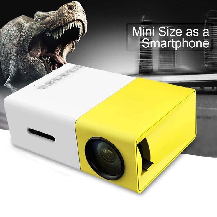 YG-300 Lumi Mini USB LED HDMI Projector 1300mAh Li-battery Portable Media Player