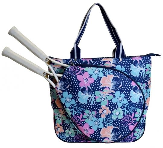 Love Tennis Bags ? Here's our  Midnight Blooms All For Color Ladies Tennis Tote Bag! Find plenty of Tennis Accessories here at #lorisgolfshoppe