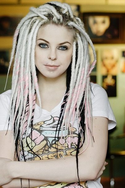 white dreads...Not usually a Huge fan of Dreads but thought these looked Cool