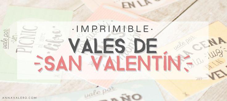 Imprimibles para San Valentín: vales regalo para enamorados