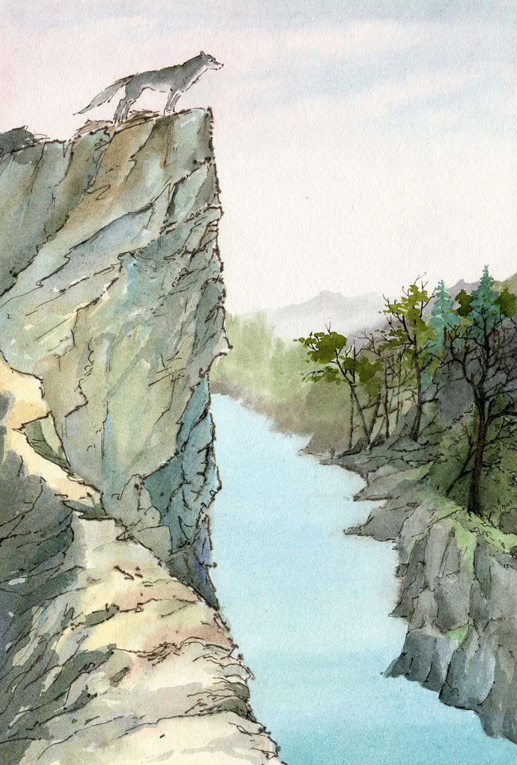 """Иллюстрация по мотивам произведения Джека Лондона - """"Белый клык"""".Смбат Багдсарян"""
