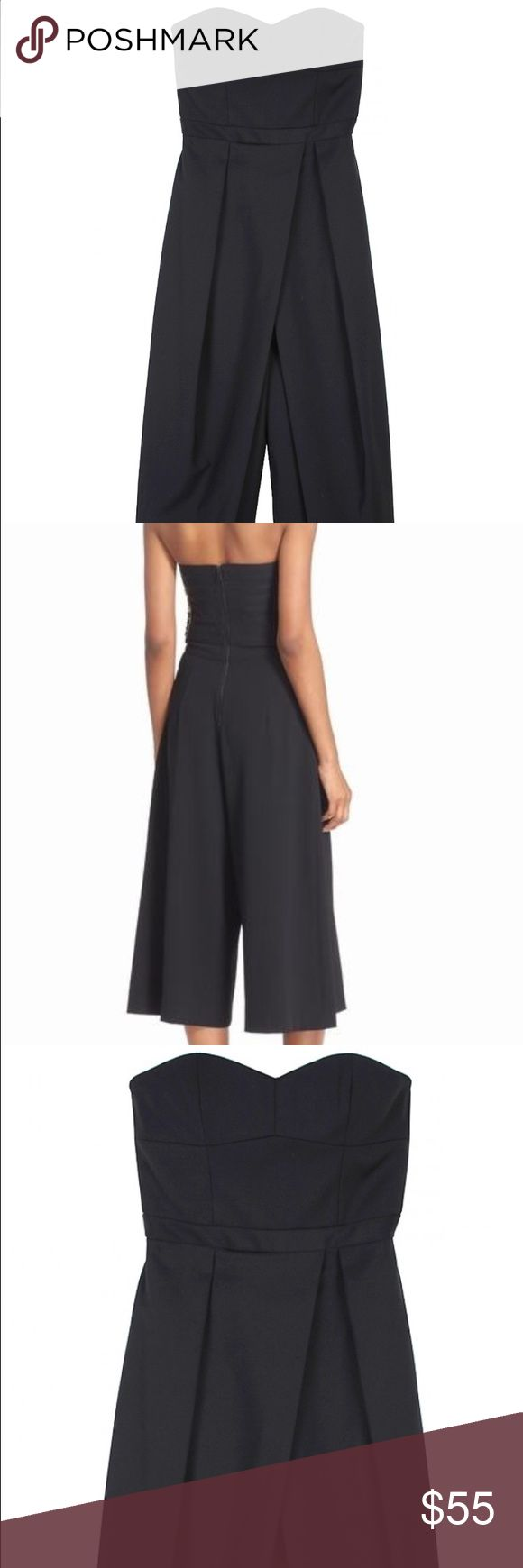 Tibi Agathe Jumpsuit: perfect 4 holiday parties😍 One of our best-selling jumpsuits is back in both neutral and of-the-moment spring hues. A must-have for the modern woman, this strapless jumpsuit is crafted from a lightweight Italian cotton blend for your day to night midi look. Zip closure at back. Inner corset bustier construction. Tagged an 8 but fits small like a 6. Tibi Dresses Strapless