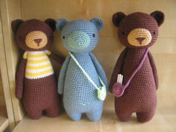 Ganchillo amigurumis patrón oso por LittleBearCrochets en Etsy