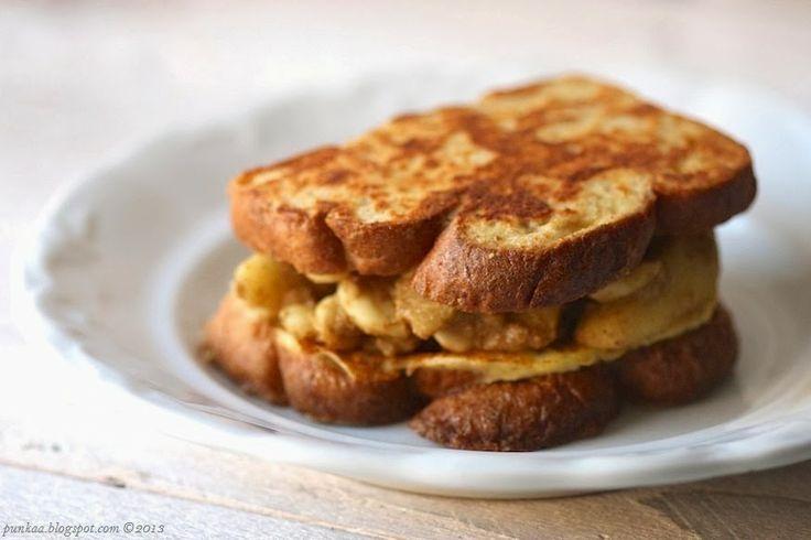diókrémes almáspités french toast