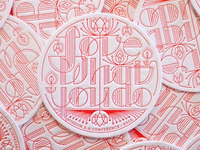 Letter-pressed by Henry + Co for Wisdom 2.0 Conference