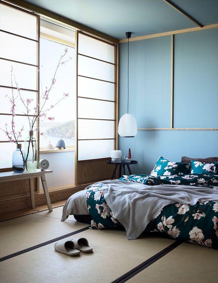 японский стиль взгляд из швеции фото идеи дизайн Japanese Style Bedroom Bedroom Interior Japanese Home Decor