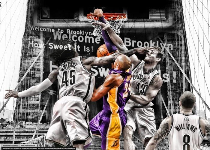 The 25 best kobe bryant dunk ideas on pinterest kobe bryant kobe bryant dunks on brooklyn voltagebd Choice Image