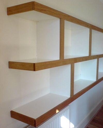 Wallnut faced shelves