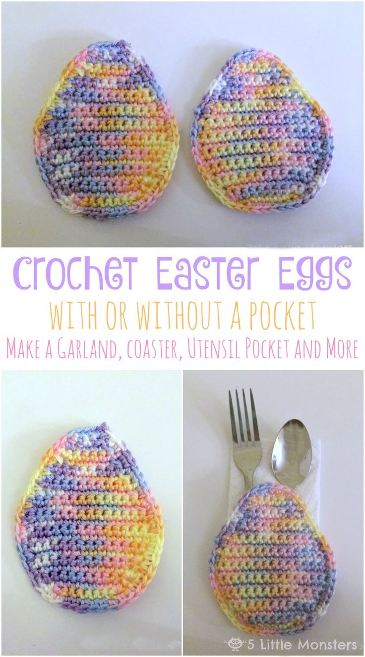 5 Little Monsters: Crocheted Easter Egg With or Without a Pocket