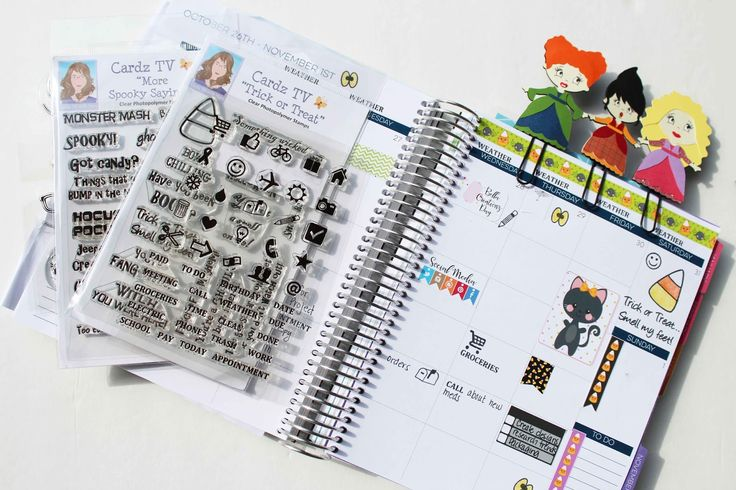 Craftin' Chaos: Cardz Tv Planner page