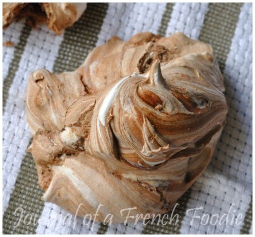 Gorgeous Chocolate Swirl Meringues made with Thermomix by @Nora Kaci