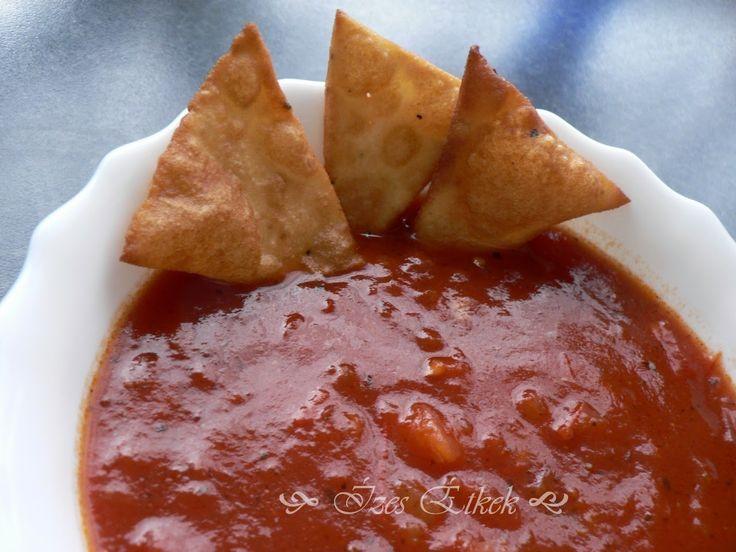 Ízes étkek: Tortilla chips salsával