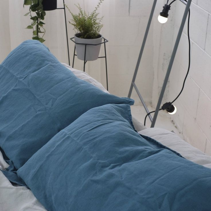 A&C Flax Linen Duvet Cover- INDIGO | Alex & Corban Home