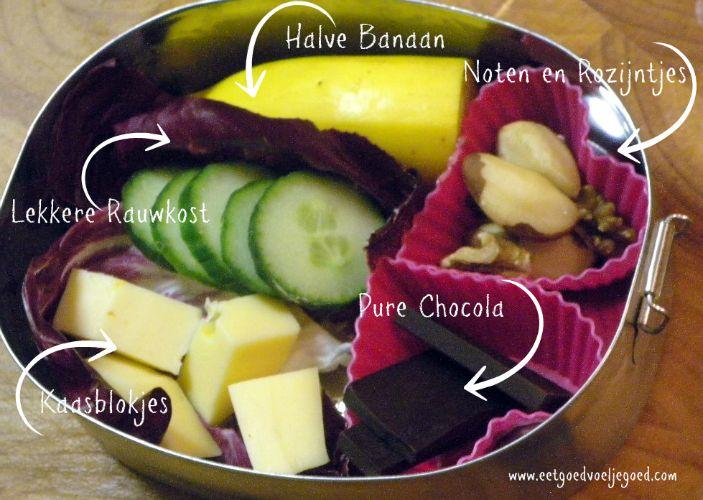 nootjes, kaas, chocola, groente/fruit