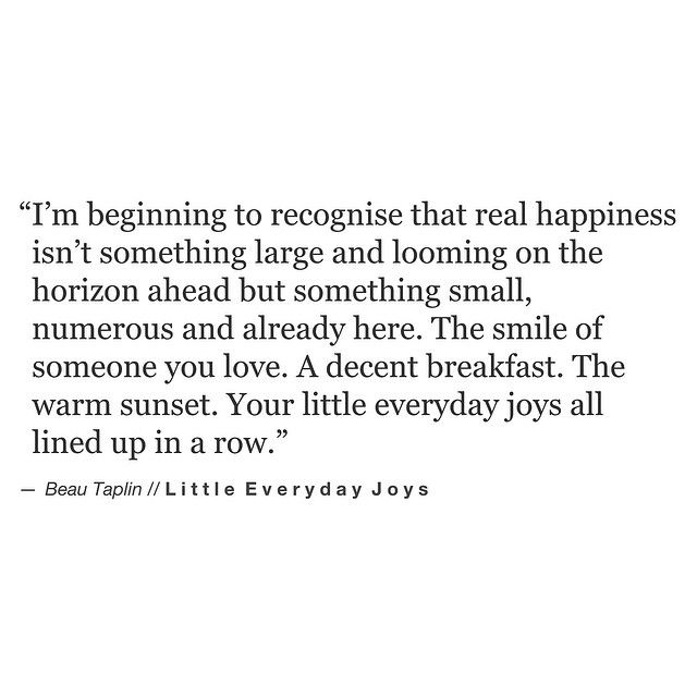 Beau Taplin | Little Everyday Joys